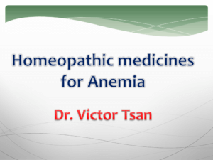 Anemia - The Homeopathy Treatment